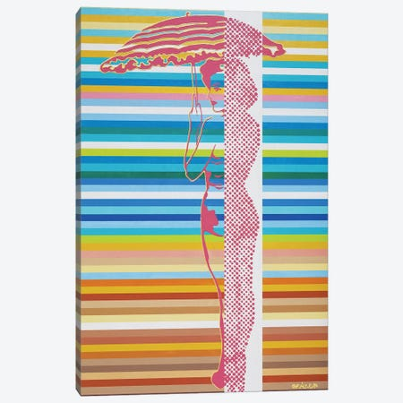 Pretty Under Umbrella Canvas Print #LGA30} by Alla GrAnde Art Print