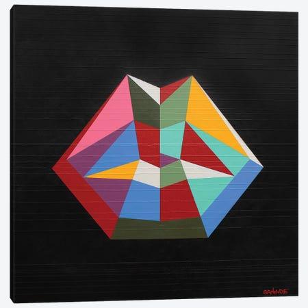 Rainbow Lips Canvas Print #LGA32} by Alla GrAnde Canvas Art Print