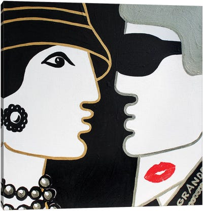 Coco & Karl Canvas Art Print