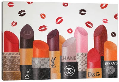Lipsticks Paradise Canvas Art Print