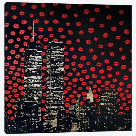Love Kisses Canvas Print #LGA76} by Alla GrAnde Canvas Wall Art