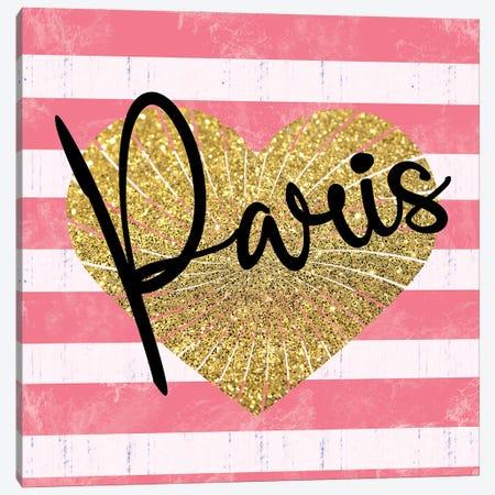Paris Heart Canvas Print #LGB15} by Lauren Gibbons Canvas Print