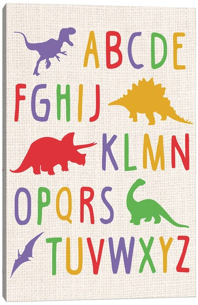 Dino Alphabet Canvas Art Print