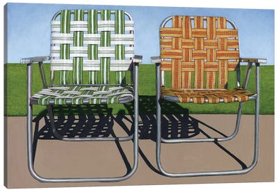 Lawn Chairs Canvas Art Print