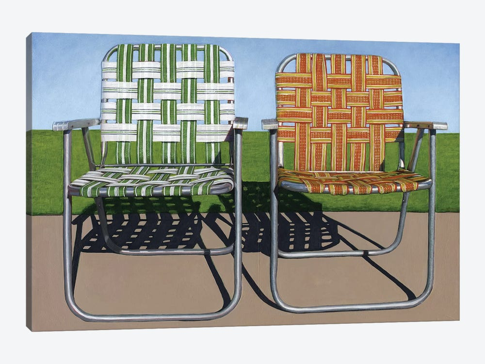 Lawn Chairs by Leah Giberson 1-piece Canvas Art
