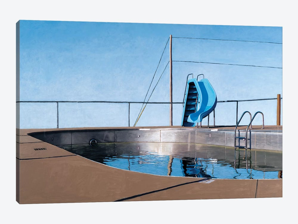 Metal Pool by Leah Giberson 1-piece Art Print