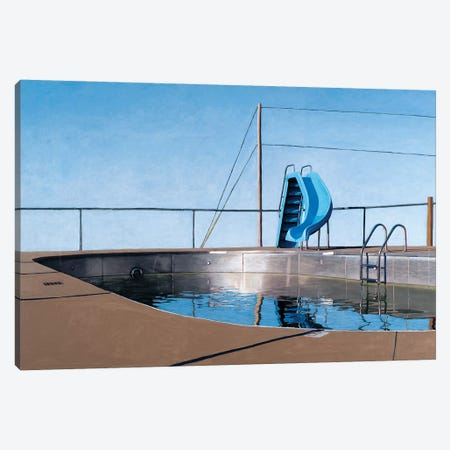 Metal Pool Canvas Print #LGI18} by Leah Giberson Canvas Art Print