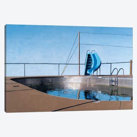 Metal Pool Canvas Print #LGI18} by Leah Giberson Canvas Art Print