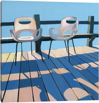 Morning Chairs Canvas Art Print