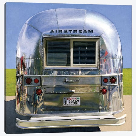 Airstream International 3-Piece Canvas #LGI1} by Leah Giberson Art Print