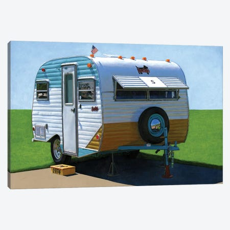 Scotty Motel Canvas Print #LGI22} by Leah Giberson Canvas Artwork