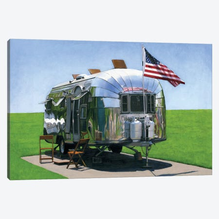 American Airstream Canvas Print #LGI2} by Leah Giberson Art Print