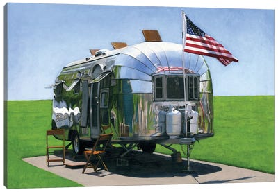 American Airstream Canvas Art Print