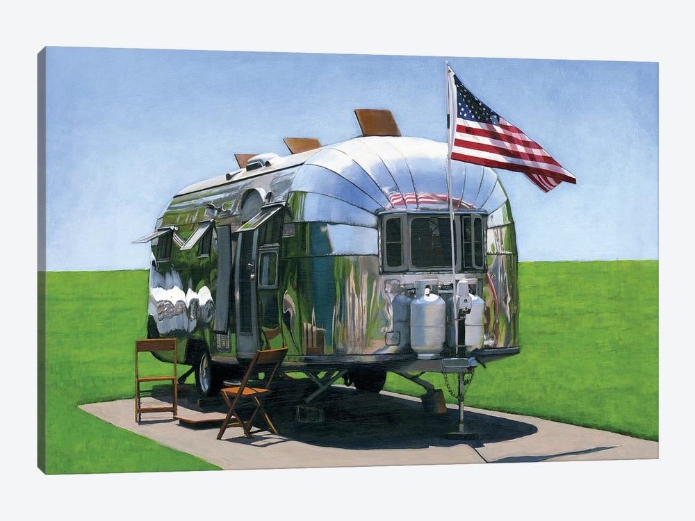 American Airstream by Leah Giberson 1-piece Canvas Wall Art
