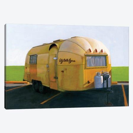 Airstream Gold Canvas Print #LGI36} by Leah Giberson Canvas Wall Art