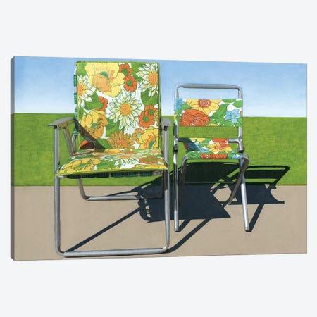 Floral Pair Canvas Print #LGI7} by Leah Giberson Canvas Artwork