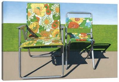 Floral Pair Canvas Art Print