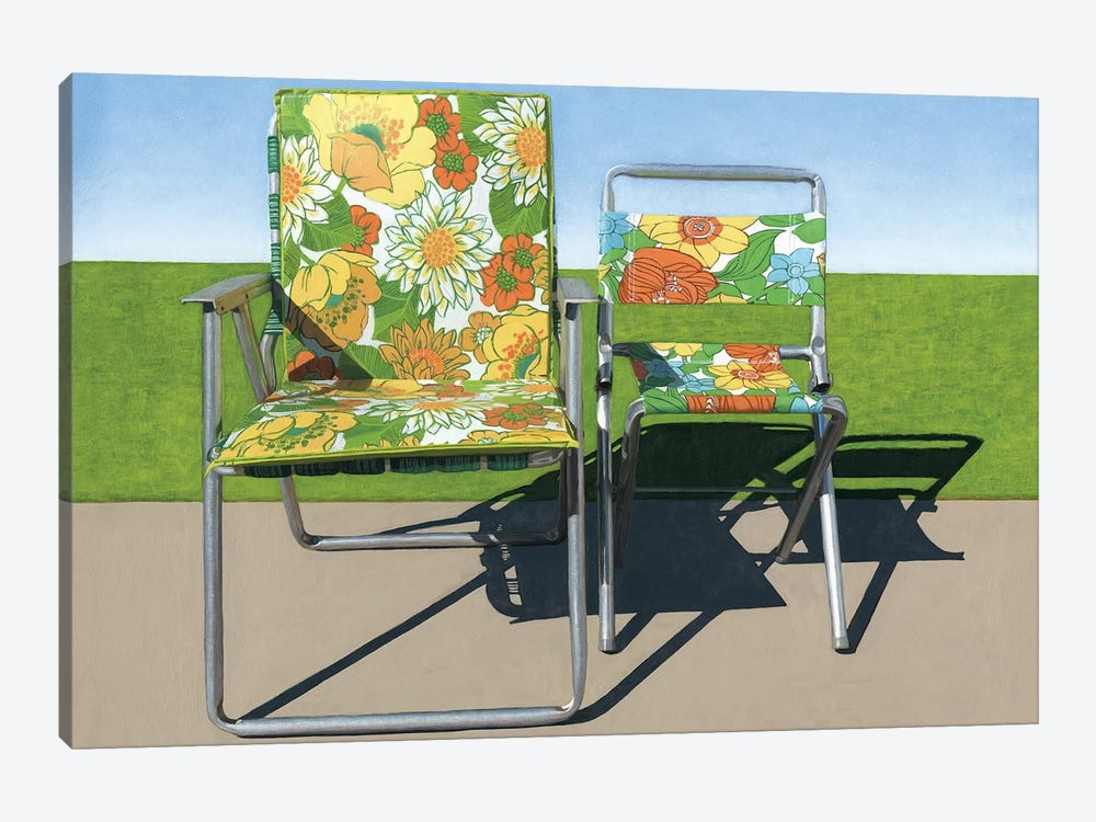 Floral Pair by Leah Giberson 1-piece Art Print