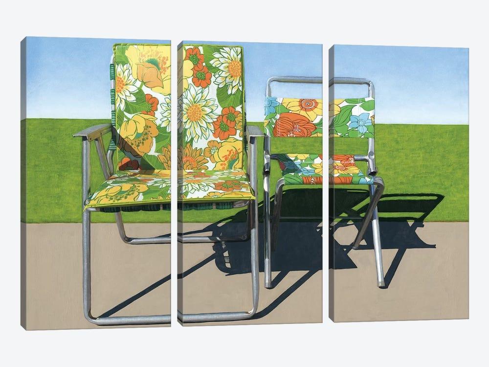 Floral Pair by Leah Giberson 3-piece Art Print