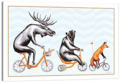 Forest Animals Trio Canvas Art Print