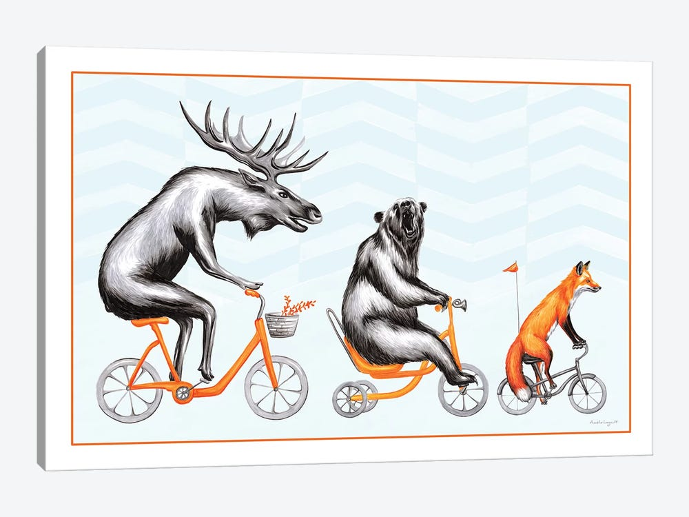 Forest Animals Trio by Amélie Legault 1-piece Canvas Art