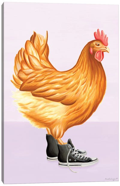 Hen Converse Canvas Art Print