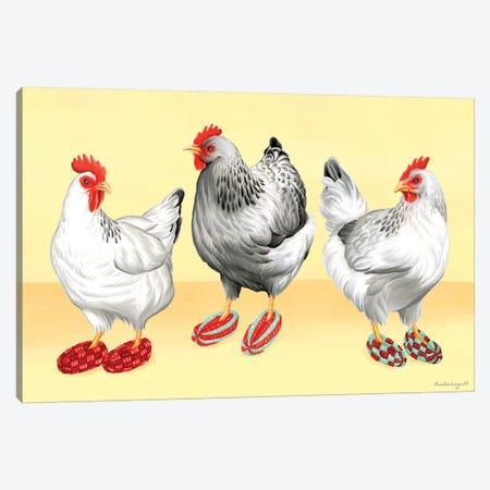 Hens Slippers Canvas Print #LGL21} by Amélie Legault Canvas Print