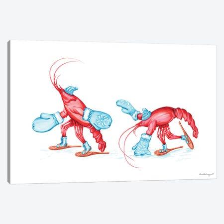 Lobsters Snowshoes Canvas Print #LGL23} by Amélie Legault Canvas Print