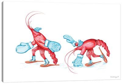 Lobsters Snowshoes Canvas Art Print