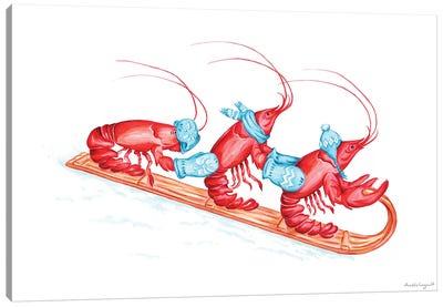 Lobsters Toboggan Canvas Art Print