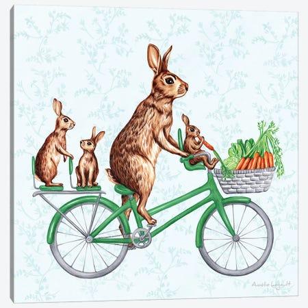 Rabbits On Bike Canvas Print #LGL31} by Amélie Legault Canvas Wall Art