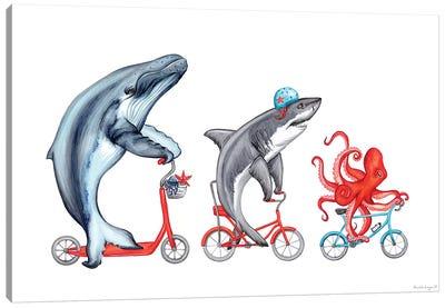 Sea Animals Trio Canvas Art Print