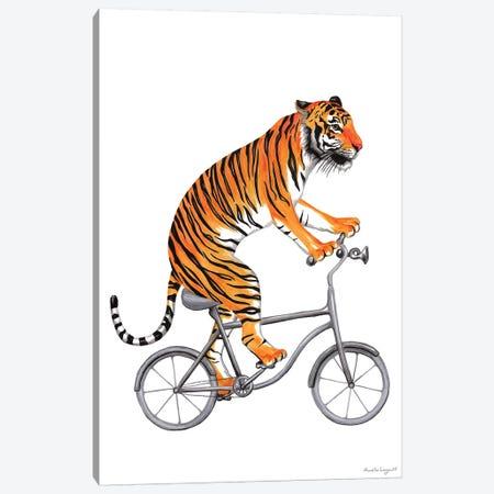 Tiger On Bike Canvas Print #LGL39} by Amélie Legault Canvas Art