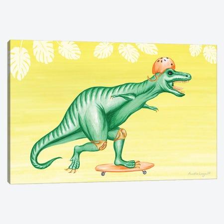 T-Rex On Skateboard Canvas Print #LGL40} by Amélie Legault Canvas Print