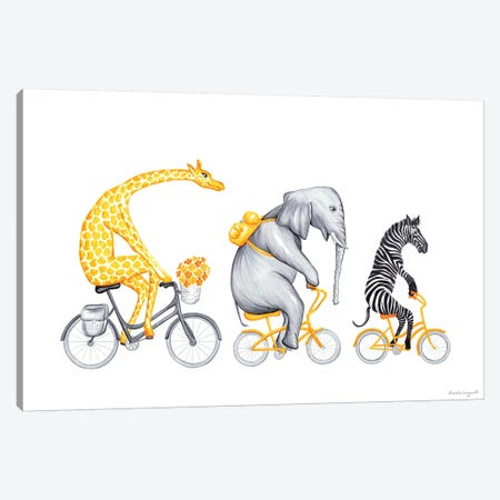 Yellow Trio Canvas Print #LGL44} by Amélie Legault Canvas Art