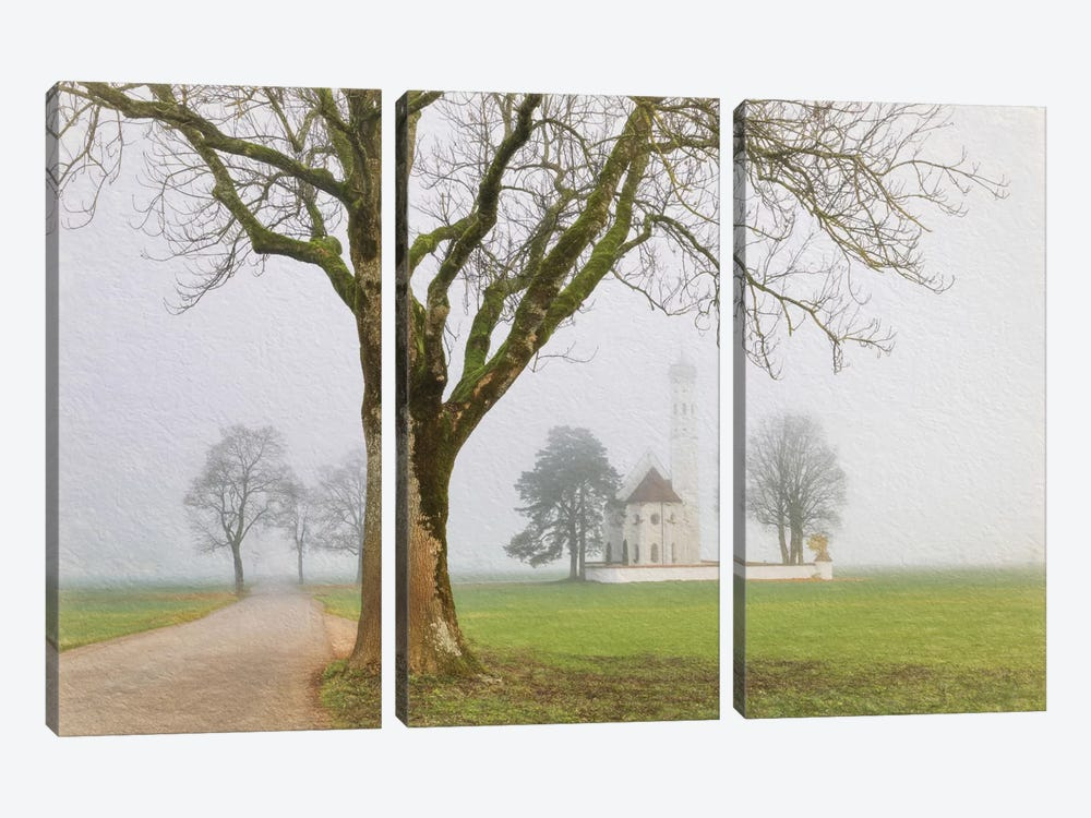 Pilgrimage Church Of St. Coloman by Lars van de Goor 3-piece Canvas Wall Art