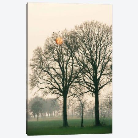 Preparing For Sunset 3-Piece Canvas #LGR23} by Lars van de Goor Art Print