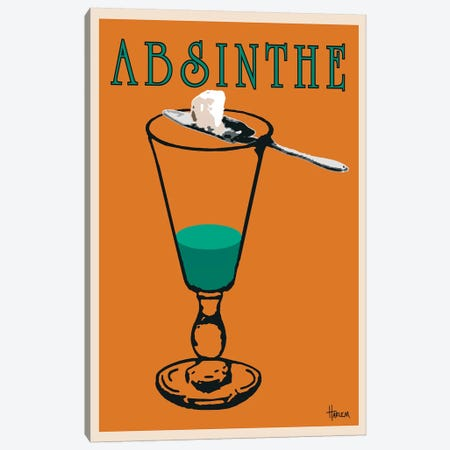 Absinthe Canvas Print #LHA1} by Lee Harlem Canvas Wall Art