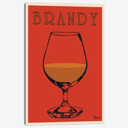 Brandy Canvas Print #LHA2} by Lee Harlem Canvas Artwork