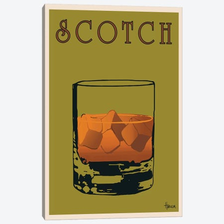 Scotch Canvas Print #LHA3} by Lee Harlem Canvas Artwork