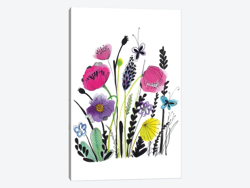 Free Floral IV by Larisa Hernandez 1-piece Canvas Wall Art