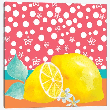 Lemon Inspiration I Canvas Print #LHE11} by Larisa Hernandez Art Print