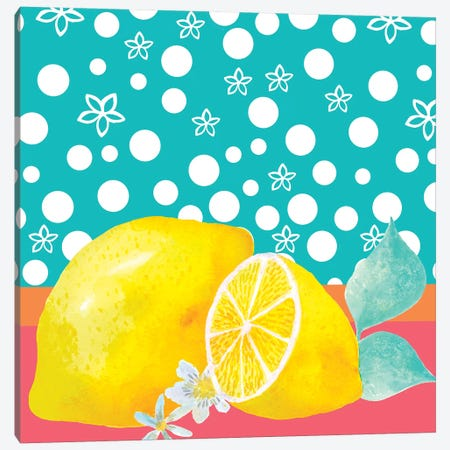 Lemon Inspiration II Canvas Print #LHE12} by Larisa Hernandez Canvas Art Print