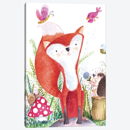 Forest Pals I Canvas Print #LHE1} by Larisa Hernandez Canvas Wall Art