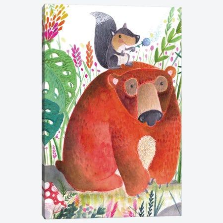 Forest Pals II Canvas Print #LHE2} by Larisa Hernandez Canvas Art