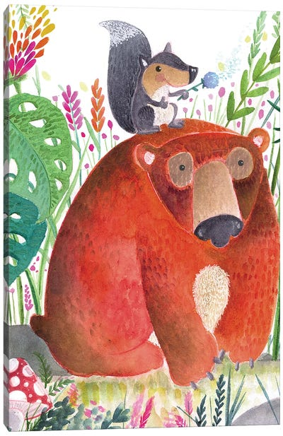 Forest Pals II Canvas Art Print