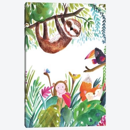 Hangin' Around I Canvas Print #LHE3} by Larisa Hernandez Canvas Wall Art