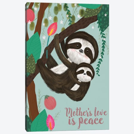 Mother's Love I Canvas Print #LHE5} by Larisa Hernandez Canvas Art Print