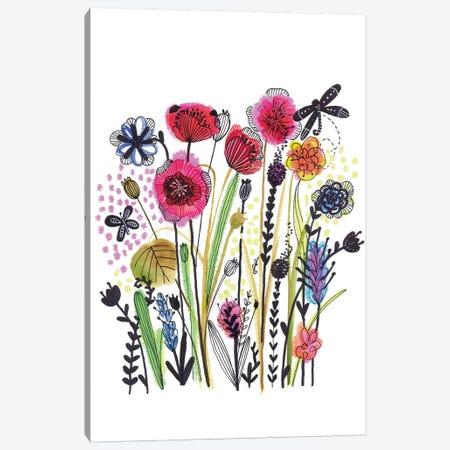 Free Floral II Canvas Print #LHE8} by Larisa Hernandez Canvas Artwork