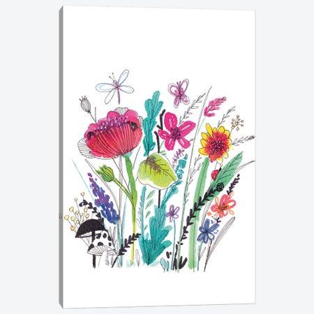 Free Floral III Canvas Print #LHE9} by Larisa Hernandez Canvas Wall Art